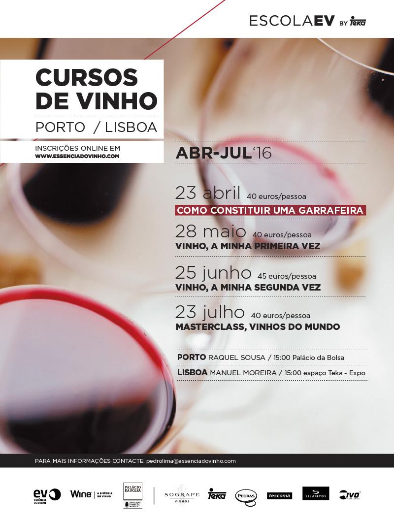 evEscola EVCursos de Vinho Porto e Lisboa